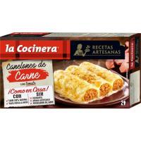 Canelones de carne LA COCINERA, caja 530 g
