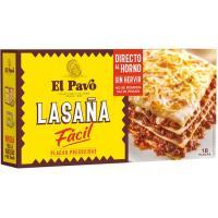 Lasagna instantánea EL PAVO, 18 placas, caja 200 g