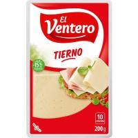 Queso tierno EL VENTERO, lonchas, bandeja 200 g
