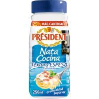 Nata para cocinar espesa especial pasta president bote 250 ml for Cocinar alcachofas de bote
