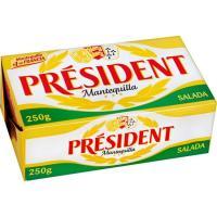 Mantequilla con sal PRESIDENT, bloque 250 g