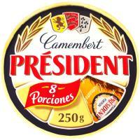 Queso Camembert PRESIDENT, porciones, caja 250 g