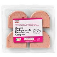 Surtido de patés EROSKI basic, pack 4x55 g