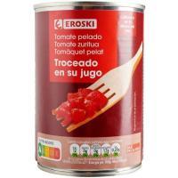 Tomate natural troceado EROSKI, lata 390 g