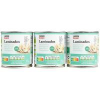 Champiñon laminado EROSKI basic, pack 3x105 g