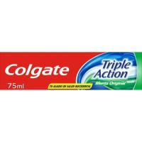 Dentífrico triple acción COLGATE, tubo 75 ml