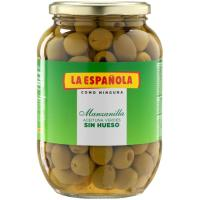 Aceitunas verdes sin hueso LA ESPAÑOLA, frasco 400 g
