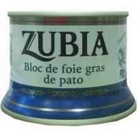 Bloc de Foie de pato ZUBIA, lata 130 g