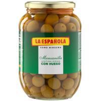Aceitunas verdes con hueso LA ESPAÑOLA, frasco 500 g