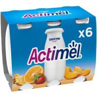 Actimel para beber multifrutas DANONE, pack 6x100 ml