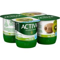 Activia 0% con kiwi DANONE, pack 4x125 g