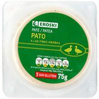Paté de pato a las finas hierbas EROSKI 75g