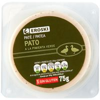 Paté de pato a la pimienta verde EROSKI 75g