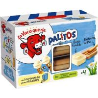 Palitos de queso LA VACA QUE RIE, 4 unid., caja 140 g