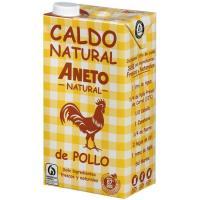 Caldo natural de pollo ANETO, brik 1 litro