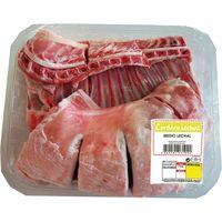 Cordero lechal limpio por medios o enteros, bandeja aprox. 3 kg