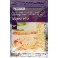 Queso rallado Mozzarella EROSKI, bolsa 200 g