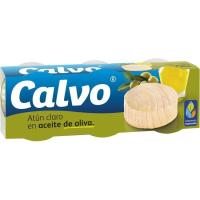 Atún claro en aceite de oliva CALVO, pack 3x80 g