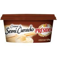 Crema de queso semicurado PRESIDENT, tarrina 125 g