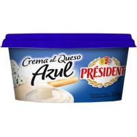 Crema al queso azul PRESIDENT, tarrina 125 g