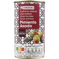 Aceitunas rellenas de pimiento EROSKI, lata 150 g