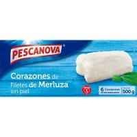 Corazones de merluza sin piel PESCANOVA, caja 500 g