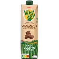 Bebida de soja con chocolate PASCUAL Vive Soy, brik 1 litro