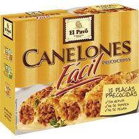 Canelón precocido EL PAVO, 12 placas, caja 80 g