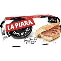 Paté LA PIARA Tapa Negra, pack 2x115 g