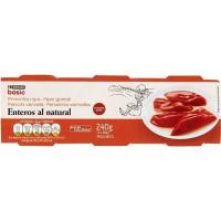 Pimiento rojo entero EROSKI basic, pack 3x60 g