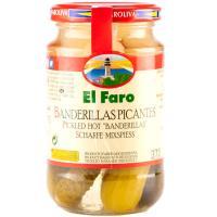 Banderillas picantes en vinagre EL FARO, frasco 160 g