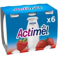 Actimel para beber de fresa DANONE, pack 6x100 ml