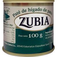 Paté de pato ZUBIA, lata 100 g