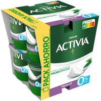 Activia 0% natural DANONE, pack 8x125 g