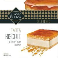 Tarta biscuit de nata-yema CASA ECEIZA, caja 550 g