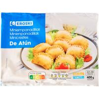 Mini empanadillas de atún EROSKI, bolsa 400 g