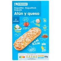 Baguette de atún EROSKI, pack 2x125 g