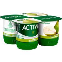 Activia con pera DANONE, pack 4x125 g