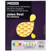Jalea real con ginseng EROSKI, caja 10 viales