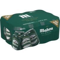 Cerveza clásica MAHOU, pack 12x33 cl