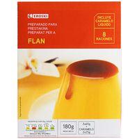 Flan con caramelo EROSKI, caja 180 g