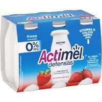 Actimel para beber de fresa 0% DANONE, pack 6x100 ml