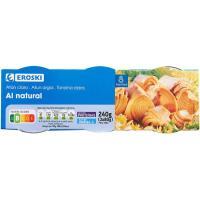 Atún claro al natural EROSKI, pack 3x56 g