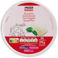 Queso fundido EROSKI basic, 24 porciones, caja 275 g