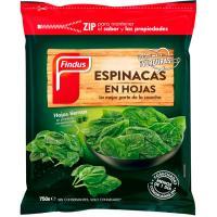 Espinaca en hoja FINDUS, bolsa 750 g
