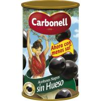 Aceitunas negras sin hueso CARBONELL, lata 150 g
