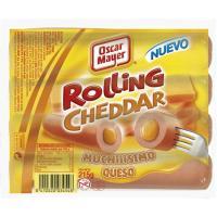 Salchichas Rolling Cheese OSCAR MAYER, sobre 215 g