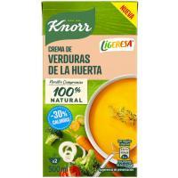 Crema de verduras de la huerta LIGERESA, brik 500 ml