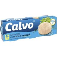 Atún claro en aceite de girasol CALVO, pack 3x115 g