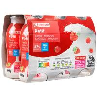 Petit para beber de fresa EROSKI, pack 6x100 ml